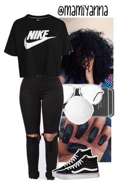 """Follow me on Twitter @mami_yanna"" by mamiyanna ❤ liked on Polyvore featuring Ray-Ban, Michael Kors, NIKE and Vans"