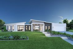 Stillwater Estate Home Designs in Melbourne NW - Essendon Contemporary House Plans, Modern House Plans, Modern House Design, Modern House Facades, Modern Bungalow House, House Roof, Facade House, Home Building Design, Building A House