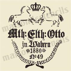 Mth Otto German Feedsack 12x12 Stencil