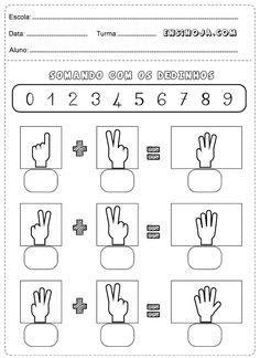 Atividades de Matemática 1 ano para imprimir Worksheets For Playgroup, Kindergarten Worksheets, Preschool Activities, Sign Language Words, Math For Kids, Teaching, Maths, Everton, Erika