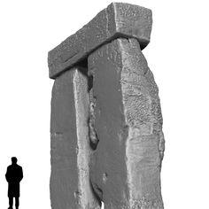 Stonehenge. Corner West, Trilithon Two, Stonehenge.