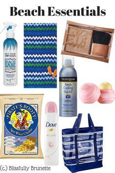 Beach essentials for under $10? Yes please: https://blissfullybrunette.wordpress.com/2015/08/03/beach-essentials-10-and-under/