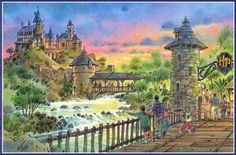 The Wizarding World of Harry Potter, Islands of Adventure, Universal Orlando (early concept)