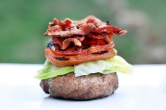 Bison Bacon Lettuce and Tomato Burger