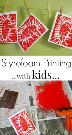 How to Do Styrofoam Printing - Easy instructions for doing this fun printmaking technique with kids!