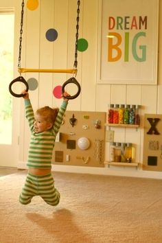 Homemade Fun: An Indoor Playroom Transformed - I wanted to pin every pic on this article. So cute and really actually pretty easy to put together, if you have the space