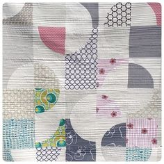 Patchwork quilting modern 41 Ideas for 2019 Scrappy Quilts, Mini Quilts, Baby Quilts, Patchwork Quilting, Circle Quilts, Quilt Blocks, Quilting Projects, Quilting Designs, Quilting Ideas