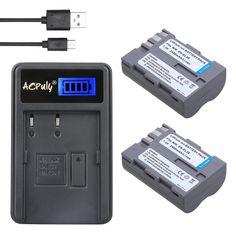 AOPULY 2pcs EN EL3e ENEL3e EL3 Battery + LCD USB Charger For Nikon D300S D300 D100 D200 D700 D70S D70 D80s D80 D90 D50 #Affiliate