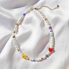 Handmade Wire Jewelry, Funky Jewelry, Trendy Jewelry, Summer Jewelry, Cute Jewelry, Jewelry Crafts, Handmade Necklaces, Pearl Necklaces, Jewelry Necklaces