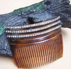 Vintage hair comb Victorian faux tortoiseshell by ElrondsEmporium