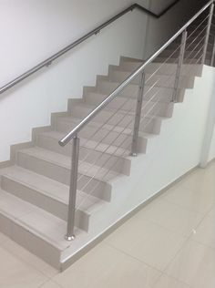 baranda con tensores de acero para escaleras - Buscar con Google