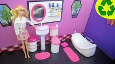 """How to Make a Doll Bathroom Pedestal Sink that """"really works"""""""