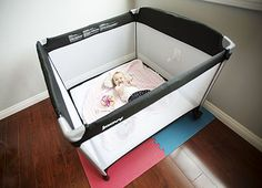 Joovy Room2 Portable Playard ~ $129: This spacious and favorite playard is made of 600D material for durability, and has wheels for moving. Included is a carry bag with a shoulder strap. Quick and easy assembly!
