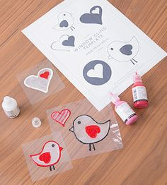 Decorate your room with these Valentine Window Clings! (They come with a free printable!)