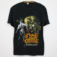 Original 1986 Ozzy Osbourne The Ultimate Sin Tour Shirt. This is a true vintage tshirt, not a modern reproduction. Sizes vary so please use measurements for best idea on fit. Shirt is in excellent condition, no holes, no stains. The Ultimate Sin, Concert Shirts, Concert Clothes, Band Outfits, Ozzy Osbourne, Tour T Shirts, Custom T, Band Tees, Vintage Shirts