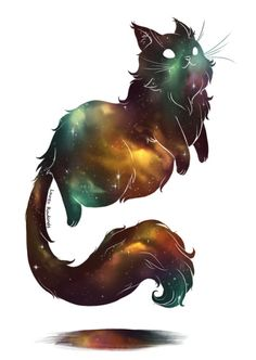 That grinning Cat - Art of Ash - Katzen / Cat Cute Animal Drawings, Animal Sketches, Cats Tumblr, Galaxy Cat, Space Cat, Cat Wallpaper, Warrior Cats, Cat Tattoo, Cat Drawing