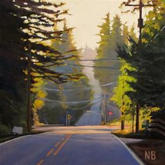 Back Roads to Battle Ground - Original Fine Art for Sale - © by Nora Bergman
