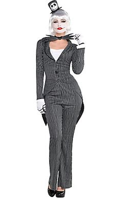 halloween costumes women jack skellington costume adult female halloween fancy dress buy it now only 4809 on ebay - Halloween Jack Costume