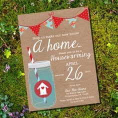 Shabby Chic Housewarming Invitation - Housewarming Party - Instantly Downloadable and Editable File