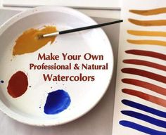 Make Your Own Professional & Natural Watercolors - Natural Earth Paint Make Your Own, Make It Yourself, How To Make, Tinta Natural, Homemade Watercolors, Sibylla Merian, Thyme Essential Oil, Earth Pigments, Homemade Paint
