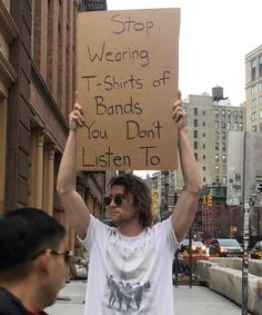 This Brave Man Protests Annoying Everyday Things With Funny Signs Rss Feed, Mtv, Black Jaguar White Tiger, Haha, Lord, Protest Signs, Judas Priest, Funny Times, Music Memes