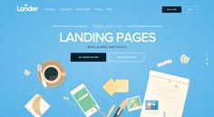 Lander is a powerful online tool that lets you create and A/B test beautiful landing pages for your online marketing campaigns using an easy step-by-step process.