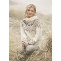 no - viking-garn-kathrine-alpaca-bris Nordic Pullover, Nordic Sweater, Drops Karisma, Fair Isle Pullover, Cuddle Duds, Drops Baby, Knitting Patterns, Crochet Patterns, Norwegian Knitting