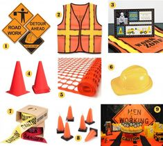 Construction Theme Party Decor | construction party ideas