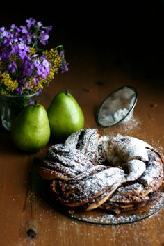 Braided Pear Nutella Bread