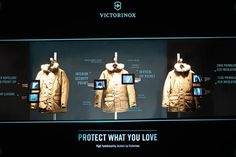 The Victorinox Jacket is the confident companion for every situation! The window installation sets a clear focus on the product's characteristics such as protection, innovation and high quality. Special features are highlighted by an X-ray scenery that stages the specific product features via digital image frames.  http://vimeo.com/dfrost/review/82390115/ccae9f4666  Designed by dfrost