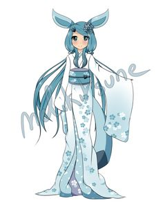 [CLOSED] Glaceon gijinka Adoptable by MeliKitsune
