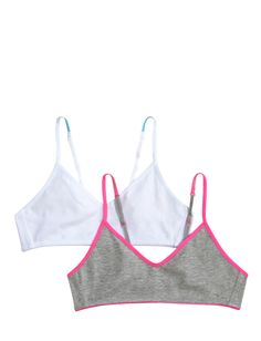2 Pack Solid Pullover Training Bra