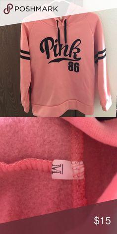 Pink pullover hoodie Very cute! Never worn! other Tops Sweatshirts & Hoodies