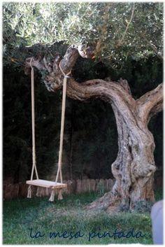 Como hacer tu propio columpio de madera columpios de - Hacer un columpio ...