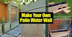 A water feature on a patio can add a lot of charm and tranquility. Have you ever seen a waterfall water at a restaurant, mall or hotel, and admired its simple beauty? Have you ever considered how interesting it would be to add one to your patio, deck or backyard? With a trip to the... #spr #sum