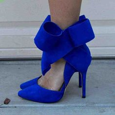 2017 New Style Escarpins Femme Butterfly-knot Ankle Strap Bow-knot Sweet Candy Color Hook & Loop Party Wedding Shoes Women Pumps High Heel Pumps, Women's Pumps, Pump Shoes, Blue Wedding Shoes, Wedding Shoes Heels, Blue Heels, Dream Shoes, Candy Colors, Ankle Strap