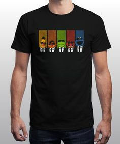 """Reservoir Muppets"" is today's £8/€10/$12 tee for 24 hours only on www.Qwertee.com Pin this for a chance to win a FREE TEE this weekend. Follow us on pinterest.com/qwertee for a second! Thanks:)"