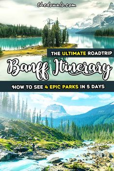 The Perfect Banff Itinerary - A Western Canada Road Trip - Looking for the perfect Banff itinerary and adventure vacation pictures to inspire trips and travel - Yoho National Park, National Parks, Western Canada, Visit Canada, Canadian Rockies, Canadian Food, Vacation Pictures, Vacation Ideas, Roadtrip