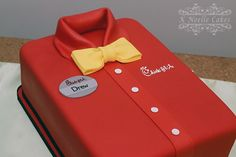 Grooms cake with Chick Fil A theme shirt cake by K Noelle Cakes