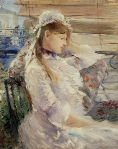 Profile of a seated young womanbyBerthe Morisot   Medium: oil on canvas
