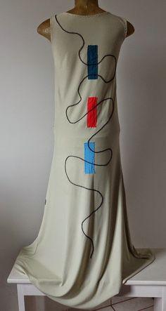Arte Residual - Arte Mandala: Vestido longo de malha