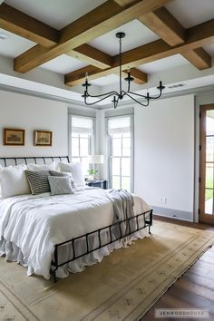 Heart of Texas Builders Association 2018 Parade of Homes Waco, Texas featuring Chip and Joanna Gaines Magnolia Homes Design, Construction, and Realty. Magnolia Design, Magnolia Homes, Magnolia Realty, Waco Texas, Home Bedroom, Bedroom Decor, Texas Bedroom, 1930s Bedroom, Shabby Bedroom