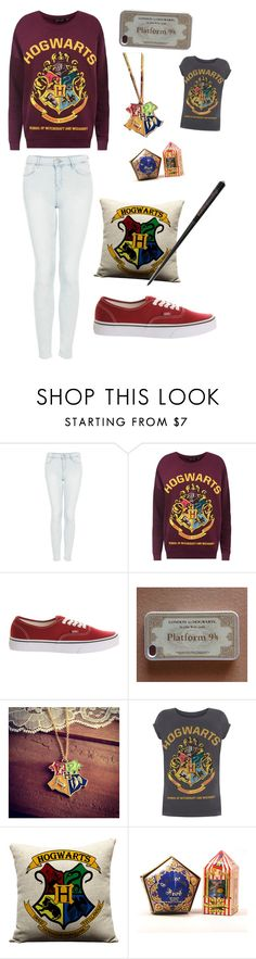 """#22 hogwarts"" by xjet1998x ❤ liked on Polyvore featuring Topshop, Vans, women's clothing, women, female, woman, misses and juniors"