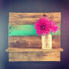 Reclaimed Wood Shelf on Etsy, $35.00