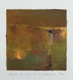 "May 5, 2017 9 cm x 9 cm (app. 4"" x 4"") oil on canvas  © 2017 Hiroshi Matsumoto"