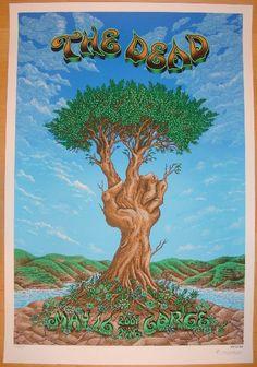 2009 The Dead - Gorge Silkscreen Concert Poster by Emek