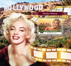 Post stamp Maldives MLD b Marilyn Monroe Marilyn Monroe 1962, Maldives, Stamps, The Maldives, Seals, Postage Stamps