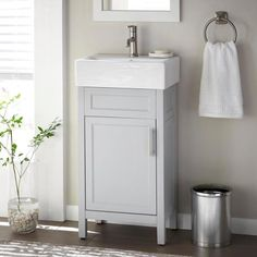 Small Bathroom Sinks, Small Sink, Bathroom Vanity Tops, Attic Bathroom, Master Bathroom, Bathroom Ideas, Small Vanity Sink, White Bathroom, Basement Bathroom