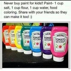 Great cheap babysitting activity                                                                                                                                                      More Kid Friendly Paint, Infant Activities, Indoor Activities For Kids, Art For Kids, Art Videos For Kids, Kids Fun, Summer Kids, Painting Art, Large Painting