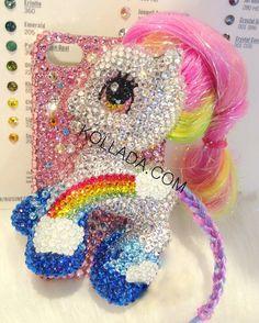 Sugar Rainbow Pony - Bling Phone Cases